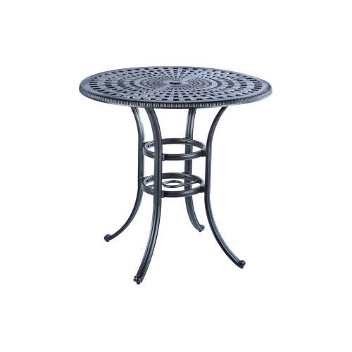 """Alfresco Home - Cobblestone 42"""" Round Bar Table w/ umbrella hole"""