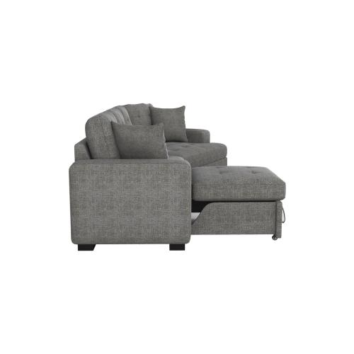 Left Side 2-Seater with Pull-out Ottoman and 1 Pillow
