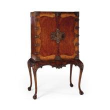 See Details - Queen Anne drinks cabinet with fine brass hardware
