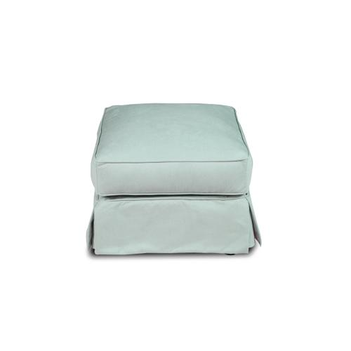 Horizon Slipcovered T-Cushion Chair with Ottoman - Color: 391043