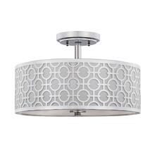 Vera Chain-link 3 Light 15.5-INCH Dia Chrome Flush Mount - Chrome