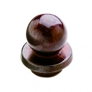 "Ball Finial Cap 7/8"" Barrel Silicon Bronze Brushed Product Image"