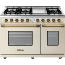 View Product - Range DECO 48'' Classic Cream matte, Bronze 6 gas, griddle and 2 gas ovens