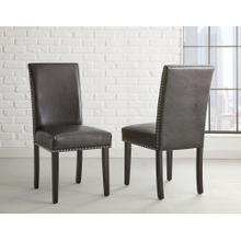 Verano Black PU Side Chair