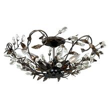 "Jardin 17-3/4"" Semi-Flush Mount Architectural Bronze with Gold Accents"