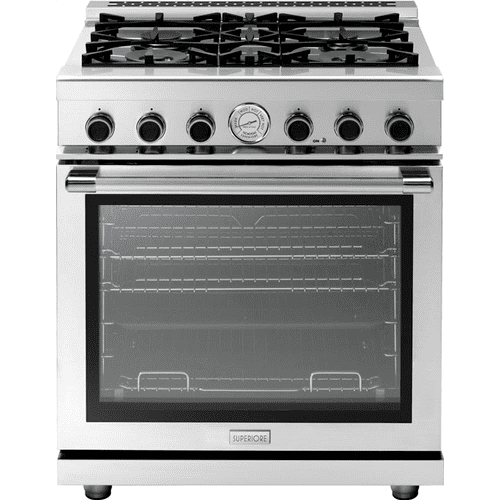 """Superiore - Range NEXT 30"""" Panorama Stainless steel 4 gas, gas oven"""
