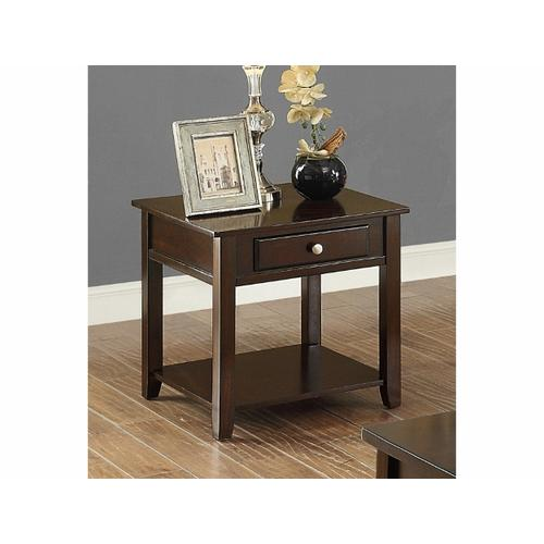 Crown Mark - Julian End Table in a Warm Brown Finish      (4113-02,75191)