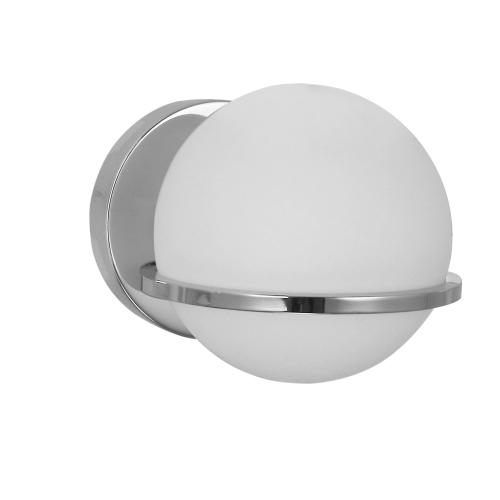 1lt Wall Sconce, PC Finish With White Gl