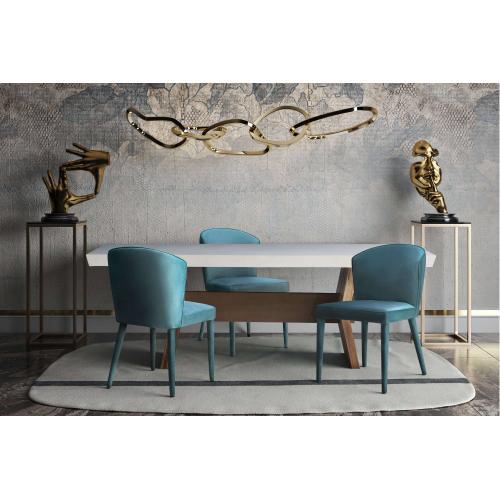 Product Image - Metropolitan Sea Blue Velvet Chair