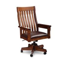 MaRyan Arm Desk Chair, Leather Cushion Seat