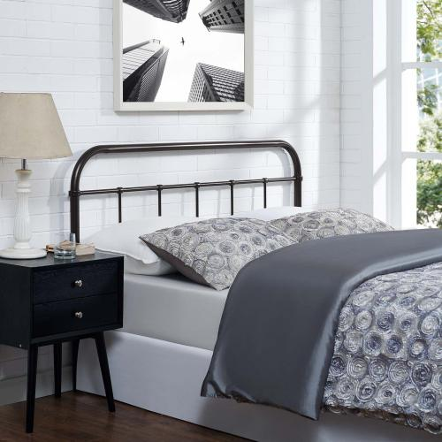 Serena Full Steel Headboard in Brown