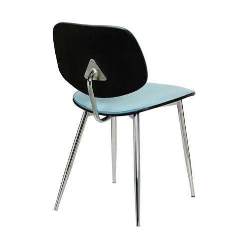 Armen Living - Lizzy Blue Velvet Modern Dining Accent Chairs - Set of 2