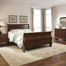King Sleigh Bed, Dresser & Mirror, Chest, Night Stand