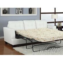 DiamondWhite Bonded Leather Sofa w/Queen Sleeper Set
