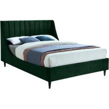 """Eva Velvet Bed - 58.5"""" W x 81.5"""" D x 48"""" H"""