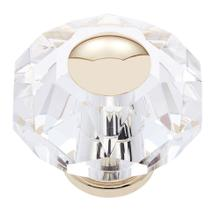 24k Gold 60 mm 8-Sided Crystal Knob