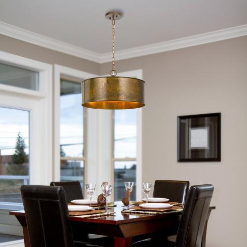 Cal Lighting & Accessories - 60W X 3 Rochefort Metal 3 Light Chandelier