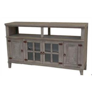 L.M.T. Rustic and Western Imports - Gray Hacienda TV Stand