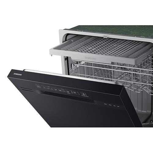 Front Control 51 dBA Dishwasher with Hybrid Interior in Black