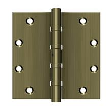 "5"" x 5"" Square Hinges, Ball Bearings - Antique Brass"