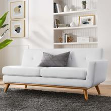 See Details - Engage Right-Arm Upholstered Fabric Loveseat in White