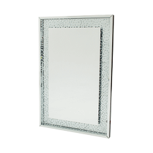 Rectangular Crystal Framed Wall Mirror w/LED Lighting