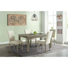 Cambridge Wyeth Dining 5-Piece Set in Natural Rustic with Table and 4 Fabric Side Chairs, 982003-5PC-RUS