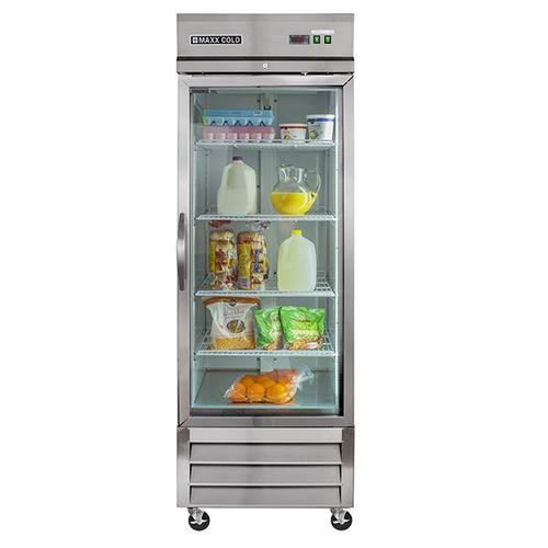 MXCR-23GD Reach-In Refrigerator, Glass Door, Bottom Mount