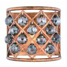 Madison 1 light Golden Iron Wall Sconce Silver Shade (Grey) Royal Cut Crystal