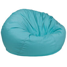 Oversized Solid Mint Green Bean Bag Chair for Kids and Adults