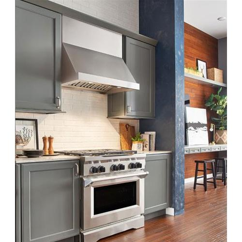 """WP28 - 60"""" Stainless Steel Pro-Style Range Hood with 300 to 1650 Max CFM internal/external blower options"""