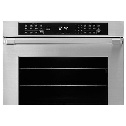 "30"" Double Wall Oven, Silver Stainless Steel with Pro Style Handle"