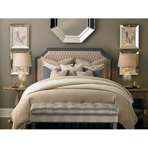 Custom Uph Beds Florence Clipped Corner Twin Headboard, Footboard None, Insert Type Tufted