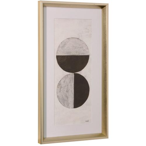Style Craft - ORBS II  26in ht X 14in w  Framed Print Under Glass