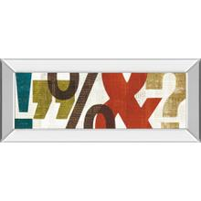 """""""Punctuated Il"""" By Micheal Mullan Mirror Framed Print Wall Art"""