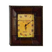 Leather Rectangular Clock