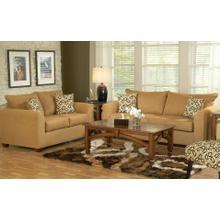See Details - VL Cognac / Frisbee Ebony Sofa
