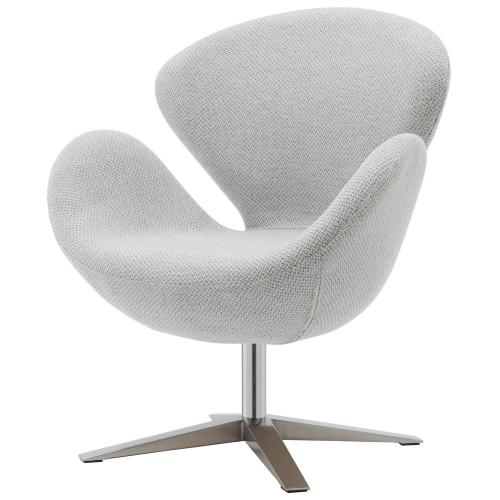 Product Image - Beckett Fabric Swicel Accent Arm Chair Chrome Legs, Cardiff Gray
