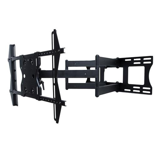 "Dual Arm Articulating (Full Motion) Outdoor Weatherproof Mount for 37"" - 80"" TV Screens & Displays - SB-WM-ART2-L-BL (Black)"