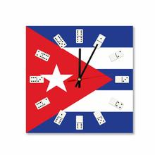Square Cuban Flag Acrylic Wall Clock