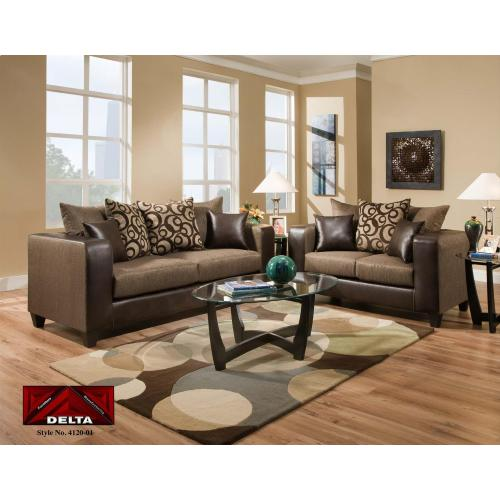 Emboss Espresso Living Room Set