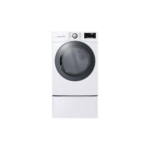 LG - 7.4 cu.ft. Smart wi-fi Enabled Gas Dryer with TurboSteam™
