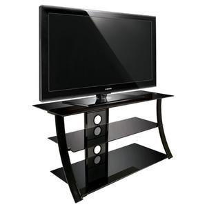 Bello - High Gloss Black Finish Flat Panel Audio/Video Furniture