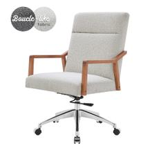 See Details - Kendrick KD Fabric Office Chair, Boucle Beige