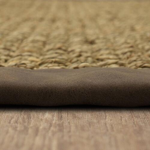 Karastan - Basketweave Seagrass 12'x15' / Leather Border