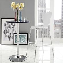 Ernie Wood Bar Stool in White