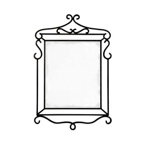 Wrought-iron mirror