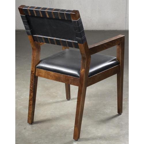 Mix-n-match Chairs - Woven Back Arm Chair - Hazelnut Finish