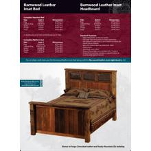 Barnwood Leather Inset Bed