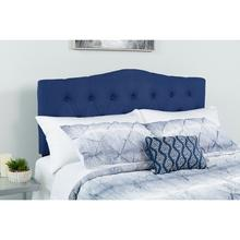 See Details - Cambridge Tufted Upholstered Queen Size Headboard in Navy Fabric